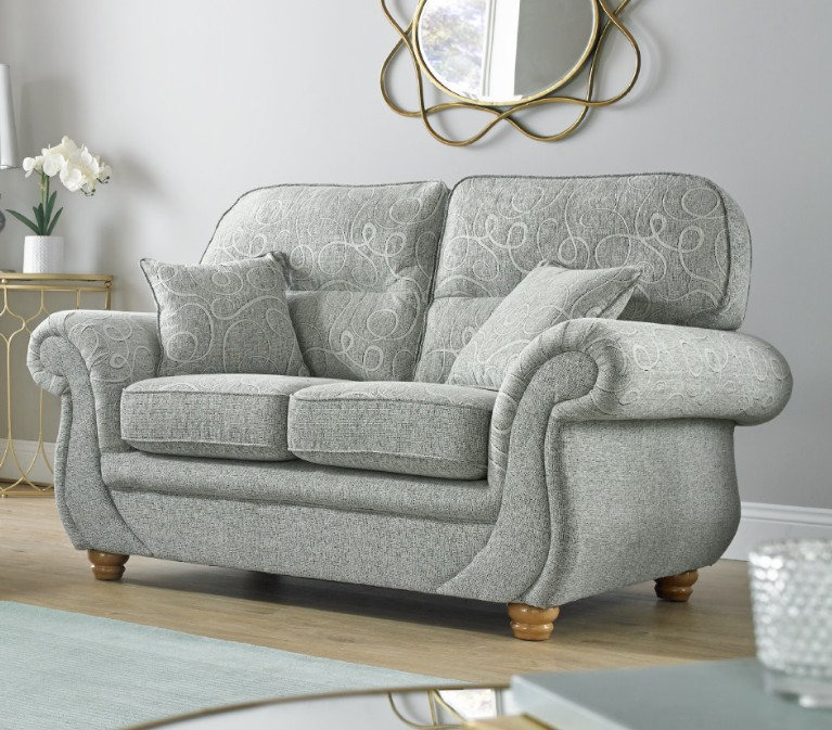 Super Details About Claremont 2 Seater Fabric Sofa Settee Vulcan Chalk Pattern Fabric Home Interior And Landscaping Dextoversignezvosmurscom