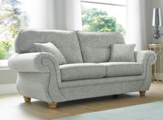 Claremont 3 Seater Sofa Settee Vulcan Chalk Fabric