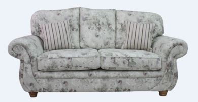Claremont 3 Seater Sofa Settee Constance Heather Fabric