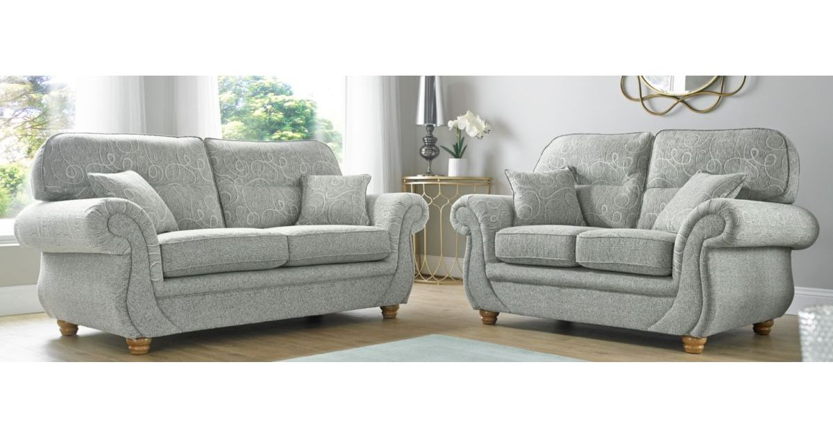 Fabric Sofa Suite 3 2 Large Sofa Designersofas4u