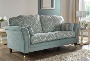 Galaxy 3 Seater Fabric Sofa Upholstered In Duck Egg Blue