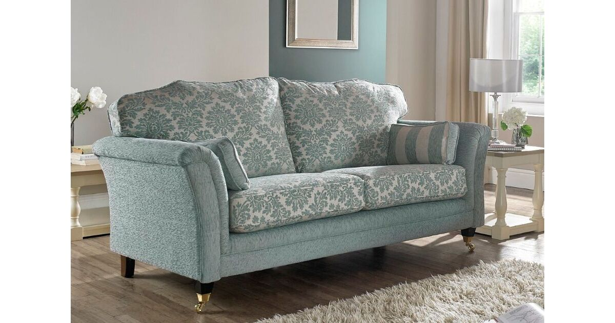 Buy fabric 3 seater sofa free swatches designersofas4u for Blue sofas for sale