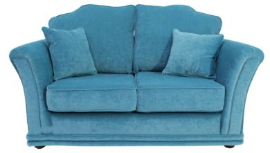 Galaxy 2 Seater Fabric Sofa Settee Upholstered In Pimlico Teal