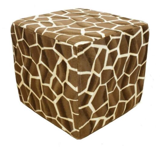 Footstool Cube Pouffe Animal Print Zebra Footstools