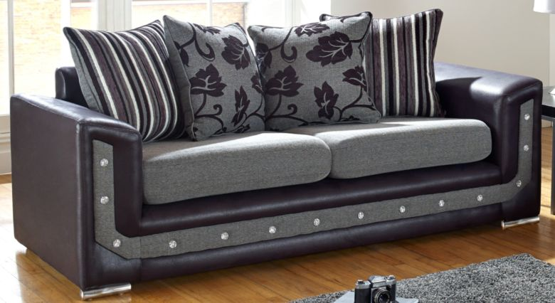 Buy UK Handcrafted British Furniture 3 Seat Fabric Sofa|Made to Order|DesignerSofas4U