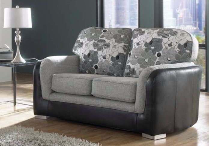 Lisbon 2 Seater Charcoal Fabric Sofa Settee