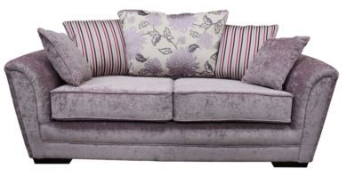 Michigan 3 Seater Fabric Sofa Settee Flamenco Crush Dusk
