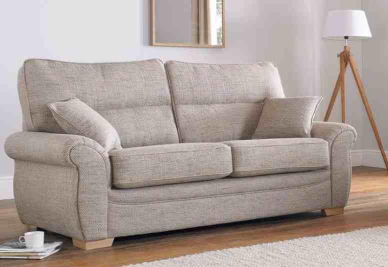 Milan 3 Seater Fabric Sofa Upholstered In Caramel