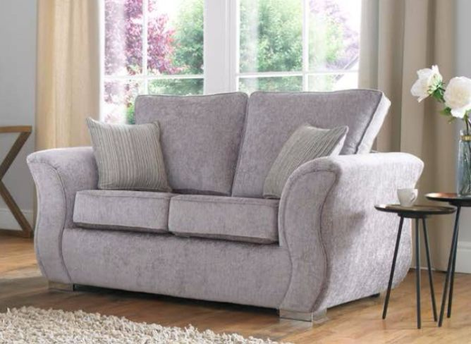 Royal 2 Carlton Silver Fabric Sofa Suite