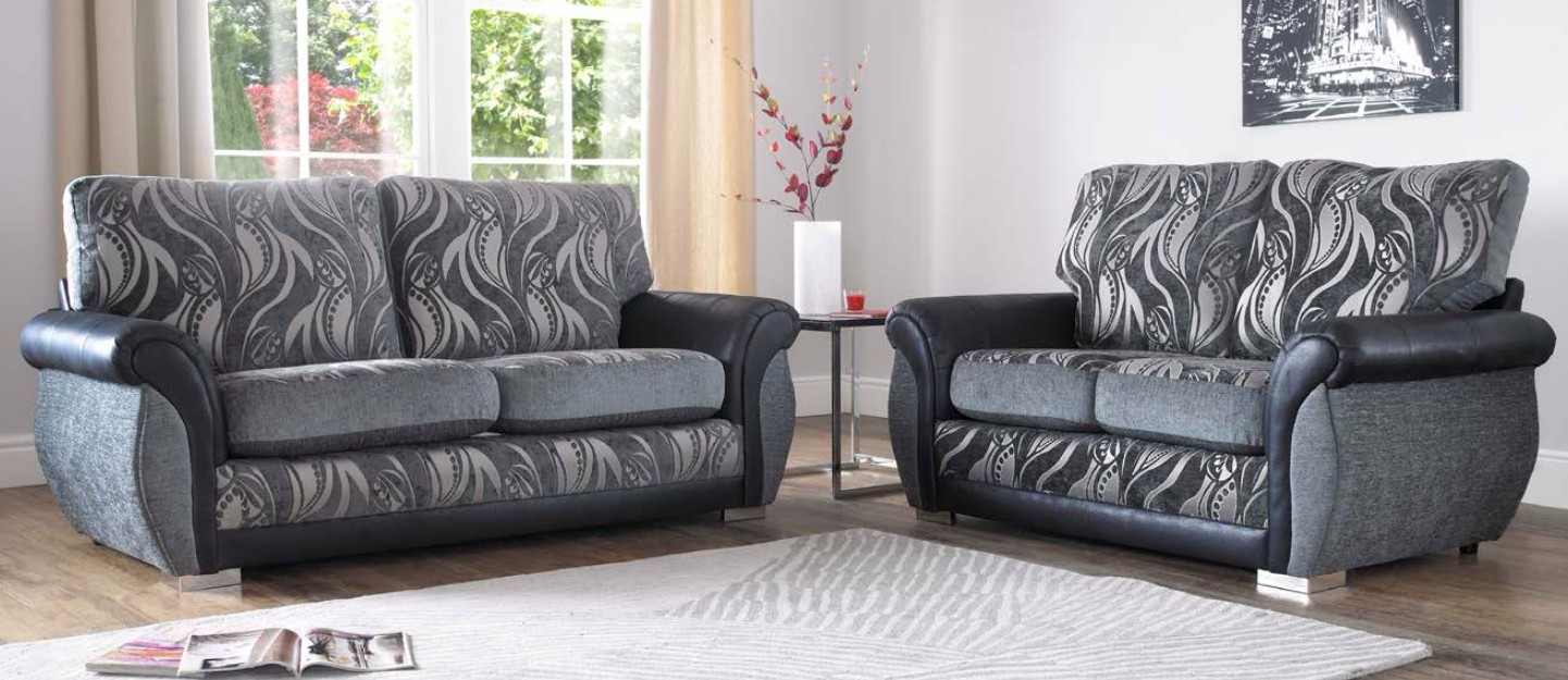 Prime Buy Modern Grey Fabric Sofa Suite Free Swatches Designersofas4U Uwap Interior Chair Design Uwaporg
