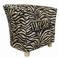 Tub Chair Fabric Bucket Animal Print Chair Antelope Gold