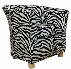 Tub Chair Fabric Bucket Animal Print Chair Zebra