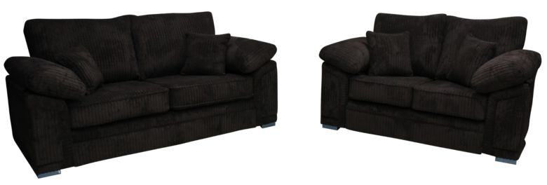 Buy 3 and 2 sofa suite|Victoria fabric settee|DesignerSofas4U