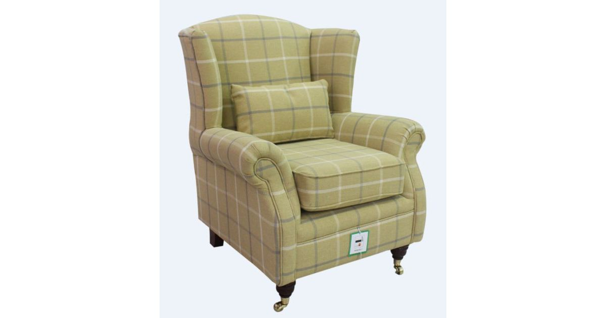 Wing Chair Fireside High Back Armchair Piazza Square