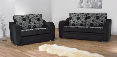 Berlin 3 Seater + 2 Seater Fabric Sofa Suite