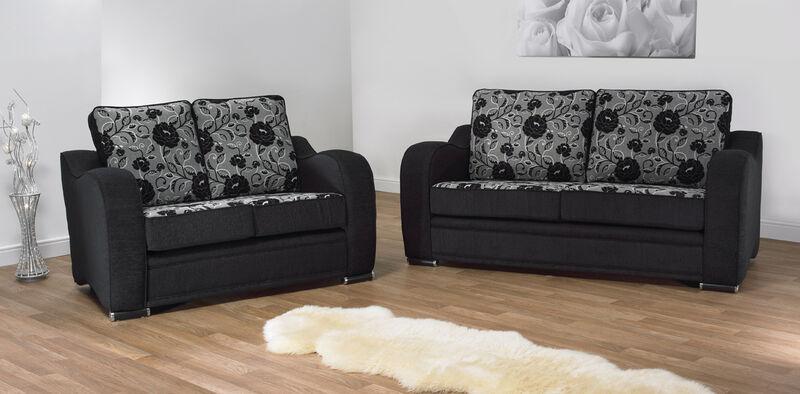 Berlin 3 Seater + 2 Seater Fabric Sofa Suite