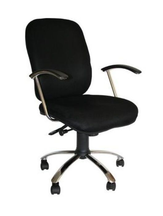 Office Chair In Black Faux Leather