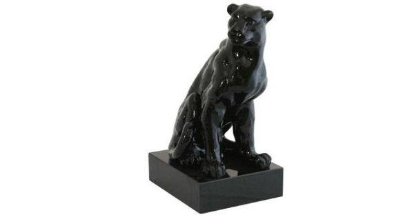 Panther sculpture ceramic sculptures uk - Black panther ceramic sculpture ...