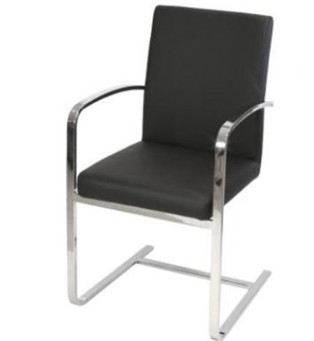 6 x Sprung Steel Dining Carver Chair Black