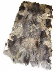 Lined Mixed Colour Goatskin Rug