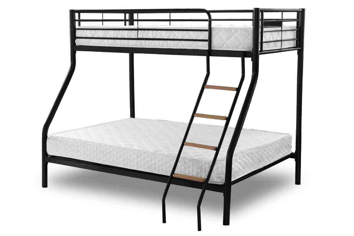 Andino Triple Sleeper Bunk Bed With Top Single Bottom Double Designer Sofas4u