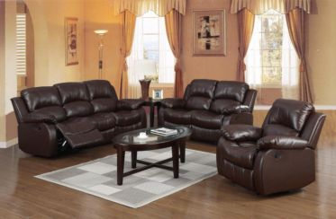 Marvelous Carlino Recliner Full Bonded Leather 2 Seater Brown Bralicious Painted Fabric Chair Ideas Braliciousco