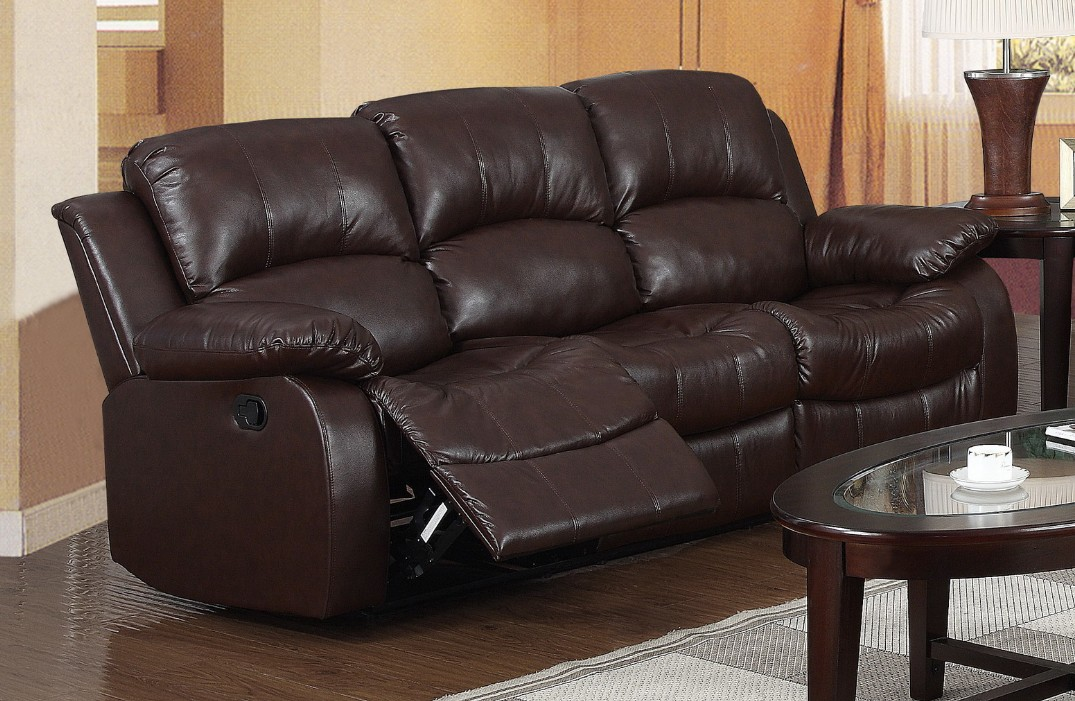 Emesto Brown 3 Seater Recliner Full Bonded Leather