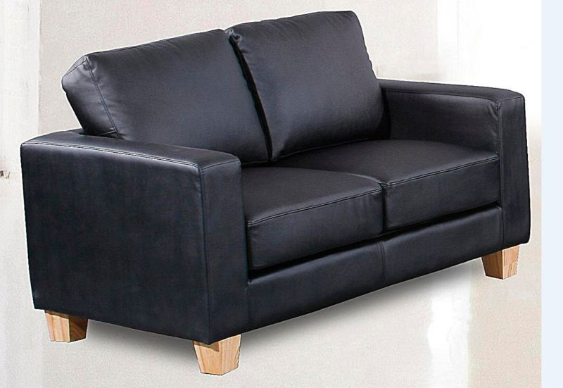 Chesterfield 2 seater sofa faux leather available in black for Sofa 0 interest free credit