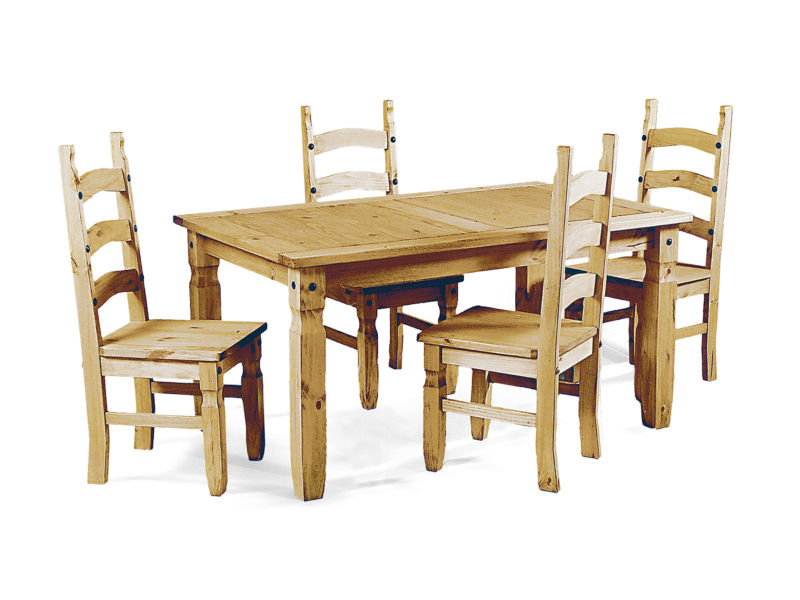 Corona 5 ft Dining Table Set With 4 Dining Chairs