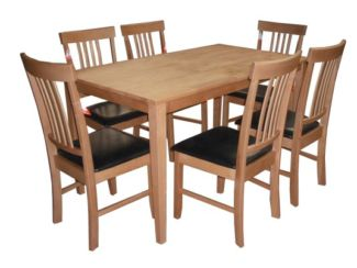 Massa Large Dining Table With 6 Chairs