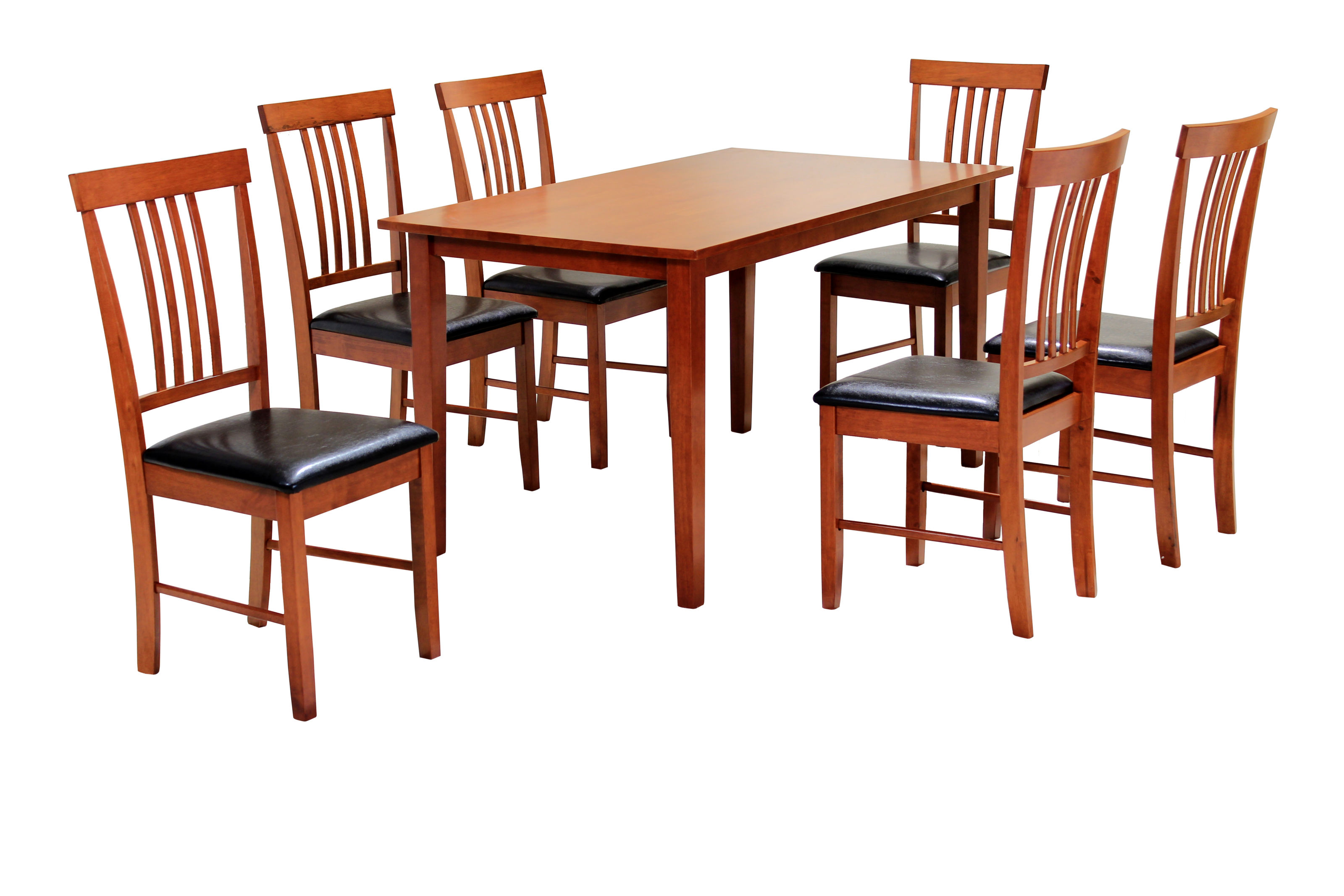 Massa Mahogany Large Dining Table With 6 Chairs