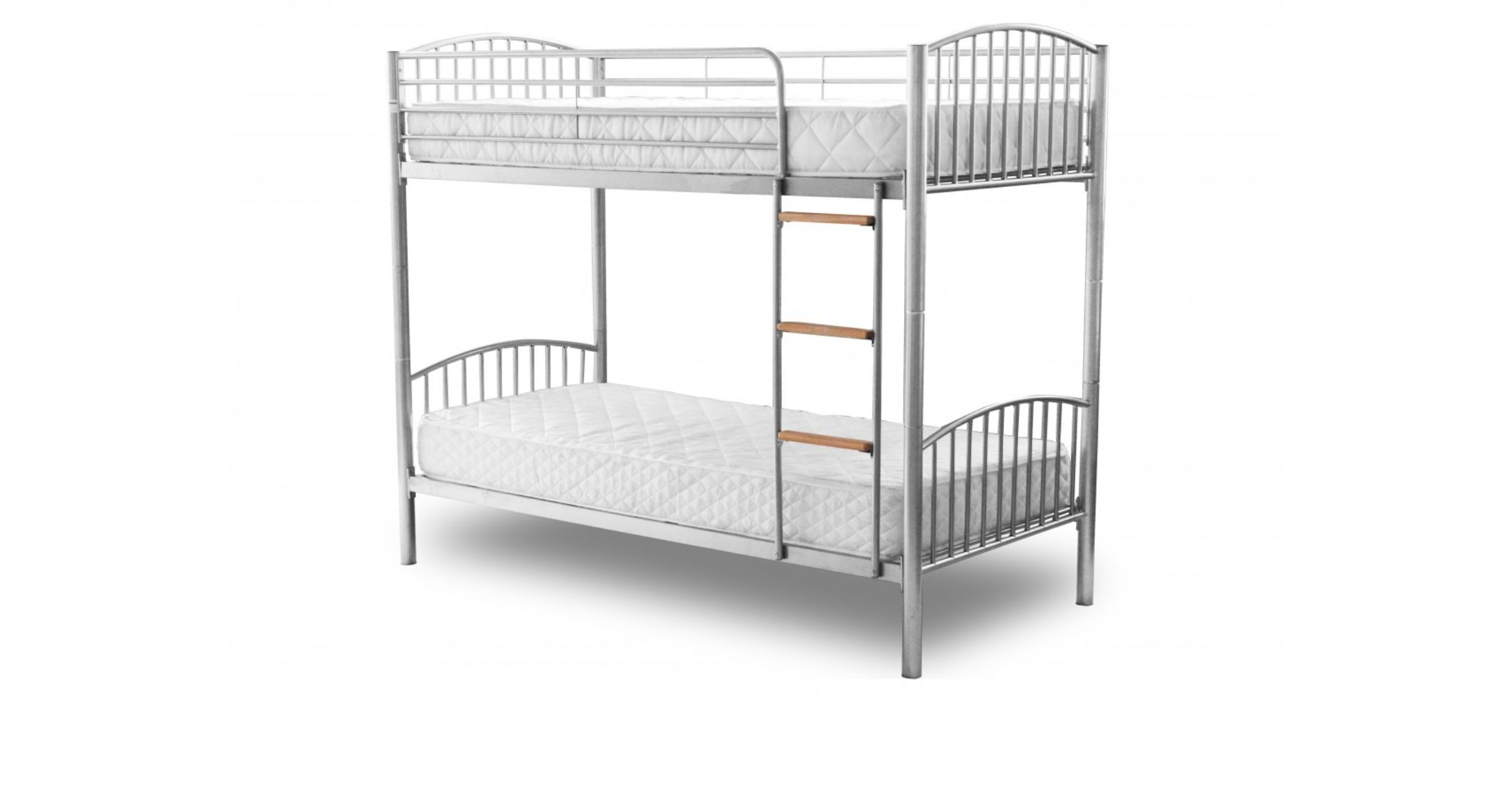 Montreal 3'0'' Single Bunk Bed Available In Black, White Or Silver