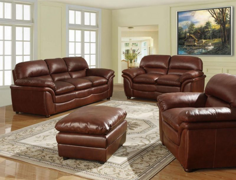 Enjoyable Fernando Sofa Full Bonded Leather 3 2 Seater Brown Suite Pabps2019 Chair Design Images Pabps2019Com