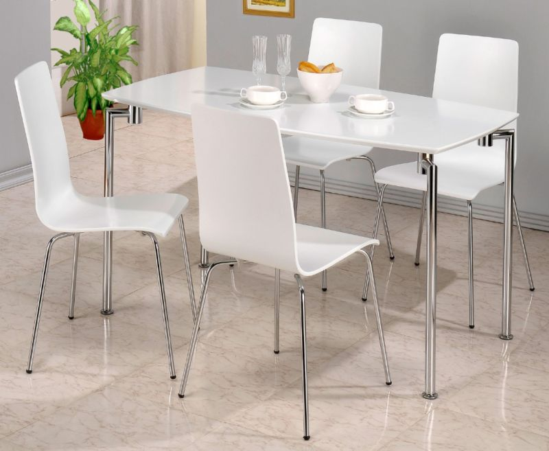 rectangle high top table fiji white high gloss rectangular dining table with 4 chairs 4538