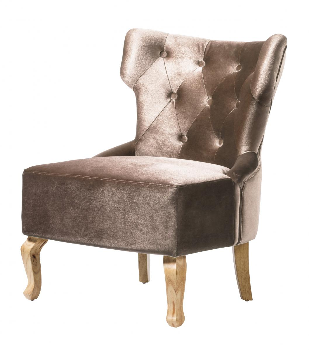 Norton Velvet Chair Beige
