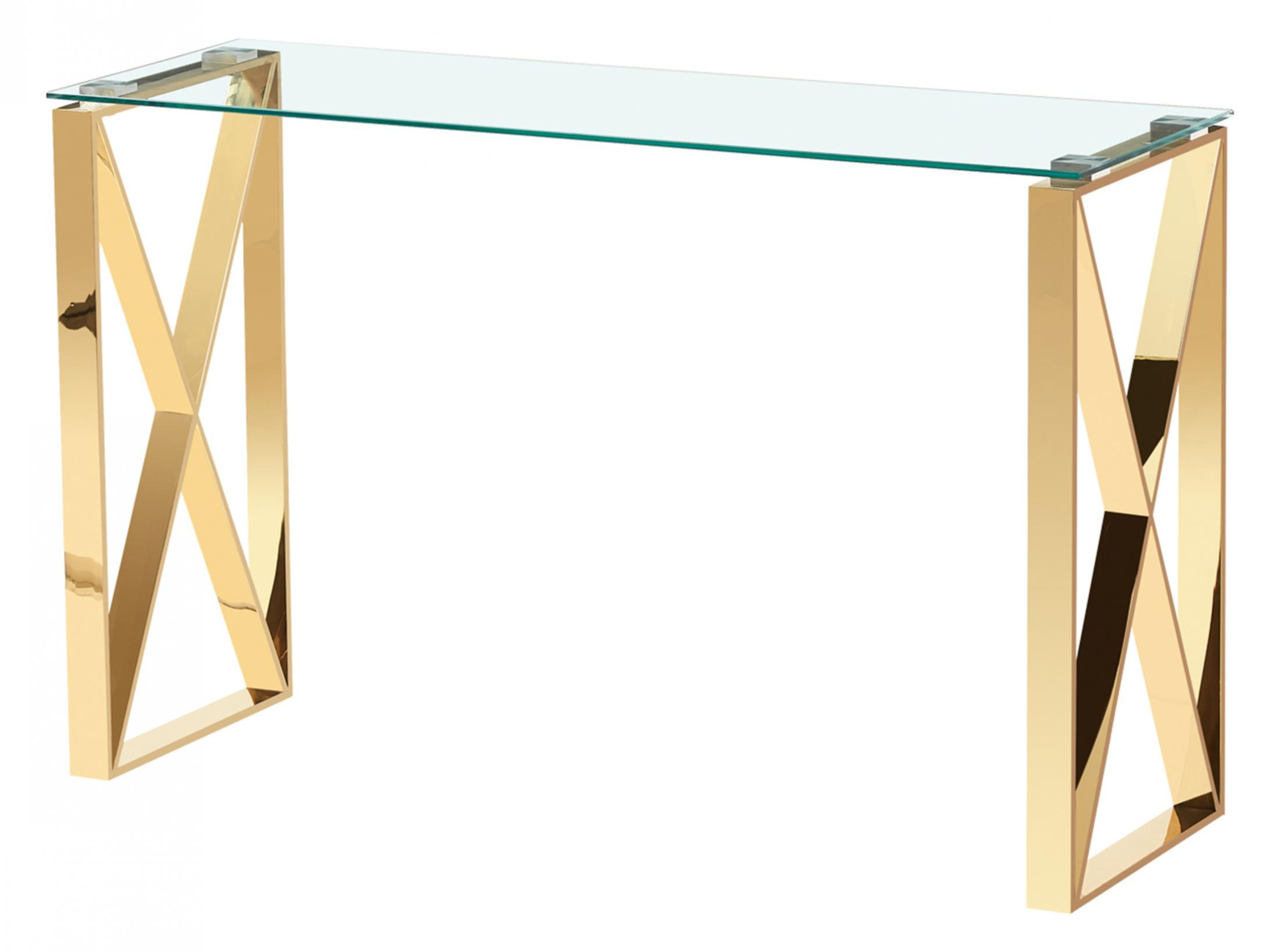 Picture of: Nash Black Glass Top Console Table With Gold Frame Designer Sofas4u