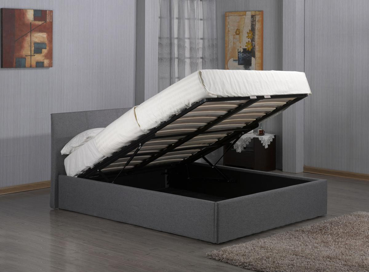 Fusion Fabric Storage Single Bed Grey