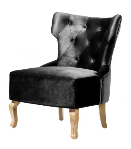 Norton Velvet Chair Black