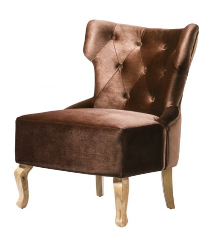 Norton Velvet Chair Brown