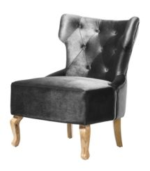 Norton Velvet Chair Grey