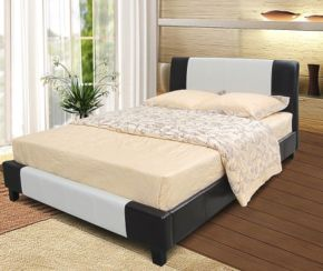 Parma 4'6'' Double Bedstead in PU Finish 2 Colours Available