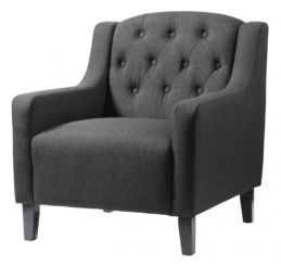 Pemberley Fabric Armchair Grey