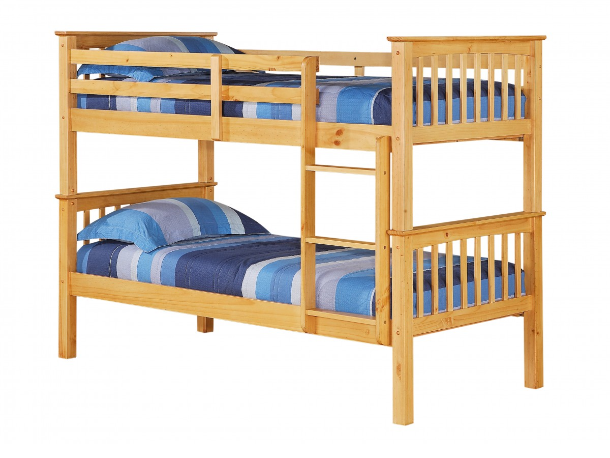 Porto pine single bunk bed for Single bunk bed
