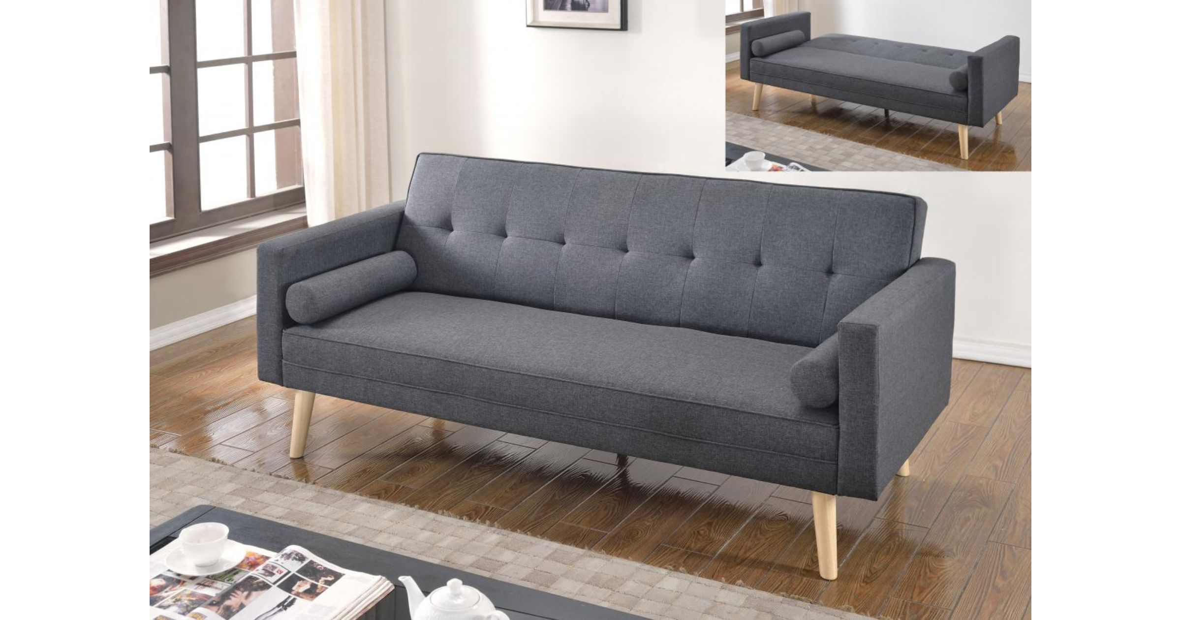 paris linen sofa bed dark grey rh designersofas4u co uk grey sofa beds for sale grey sofa beds ebay