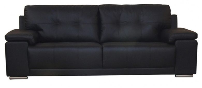Ranee 3 Seater Leather Sofa  Available In Black Or Brown