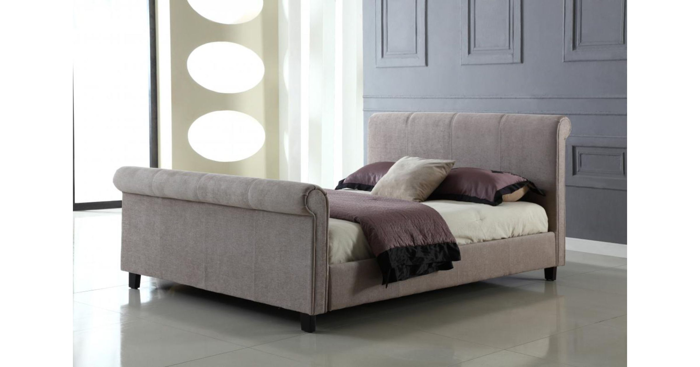 Jalisa Chenille Double Bed Mink
