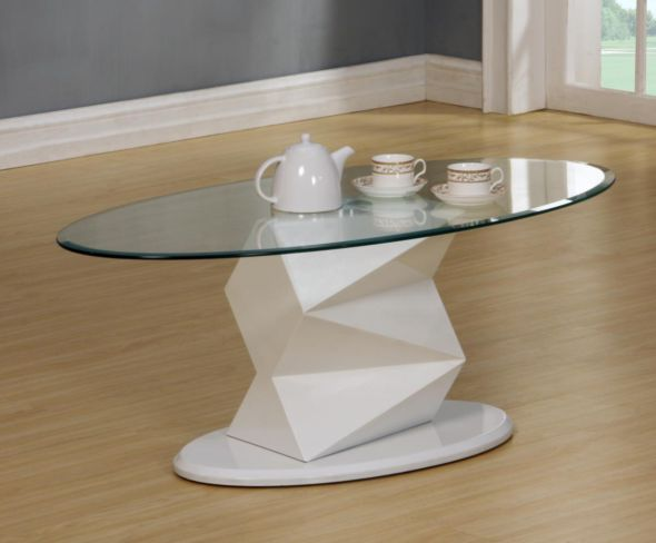 Rowley White High Gloss Coffee Table
