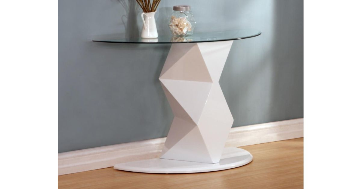 wholesale dealer 5f391 2701f Rowley White High Gloss Console Table