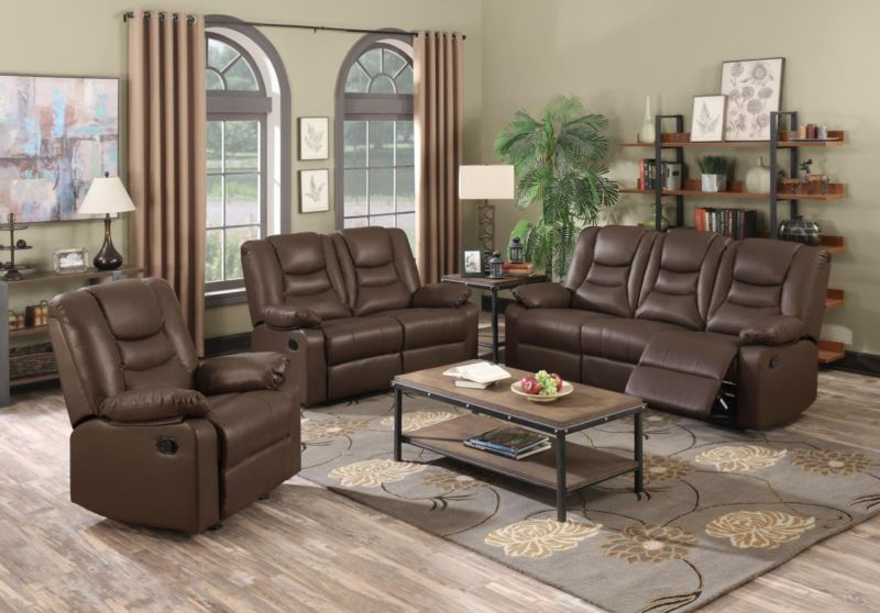 Kirk recliner bonded pu 3 2 seater for Furniture 60 months no interest