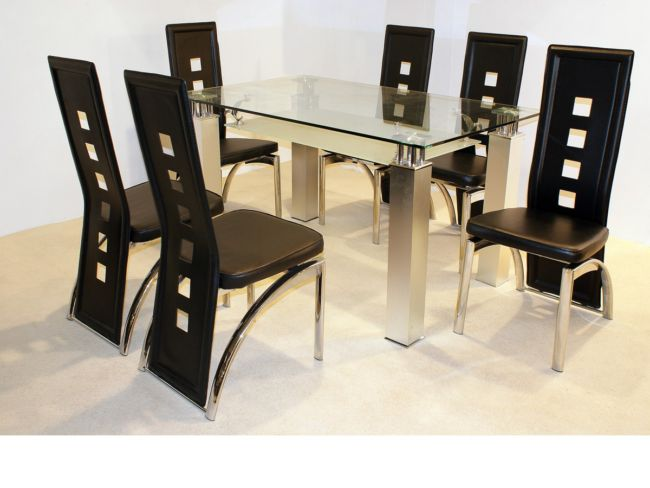San Francisco Clear Glass Dining Table
